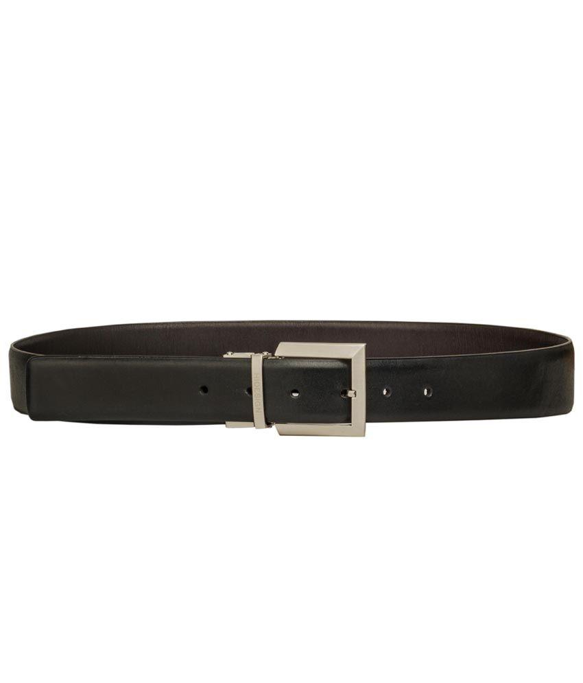 Hidesign Adison Black Reversible Leather Men's Belt