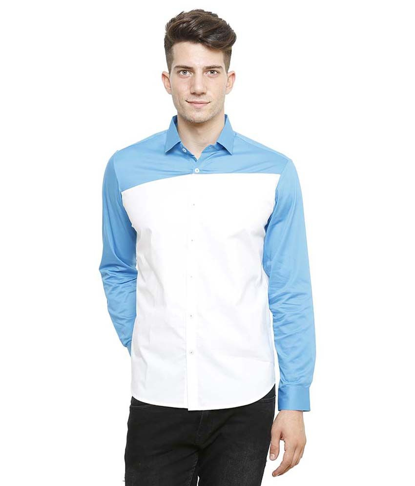 N F Clothing Multicolor Cotton Blend Casual Shirt