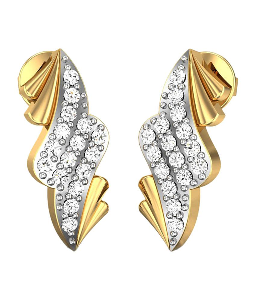 Candere Ratnali Yellow Gold 14Kt Diamond Studs