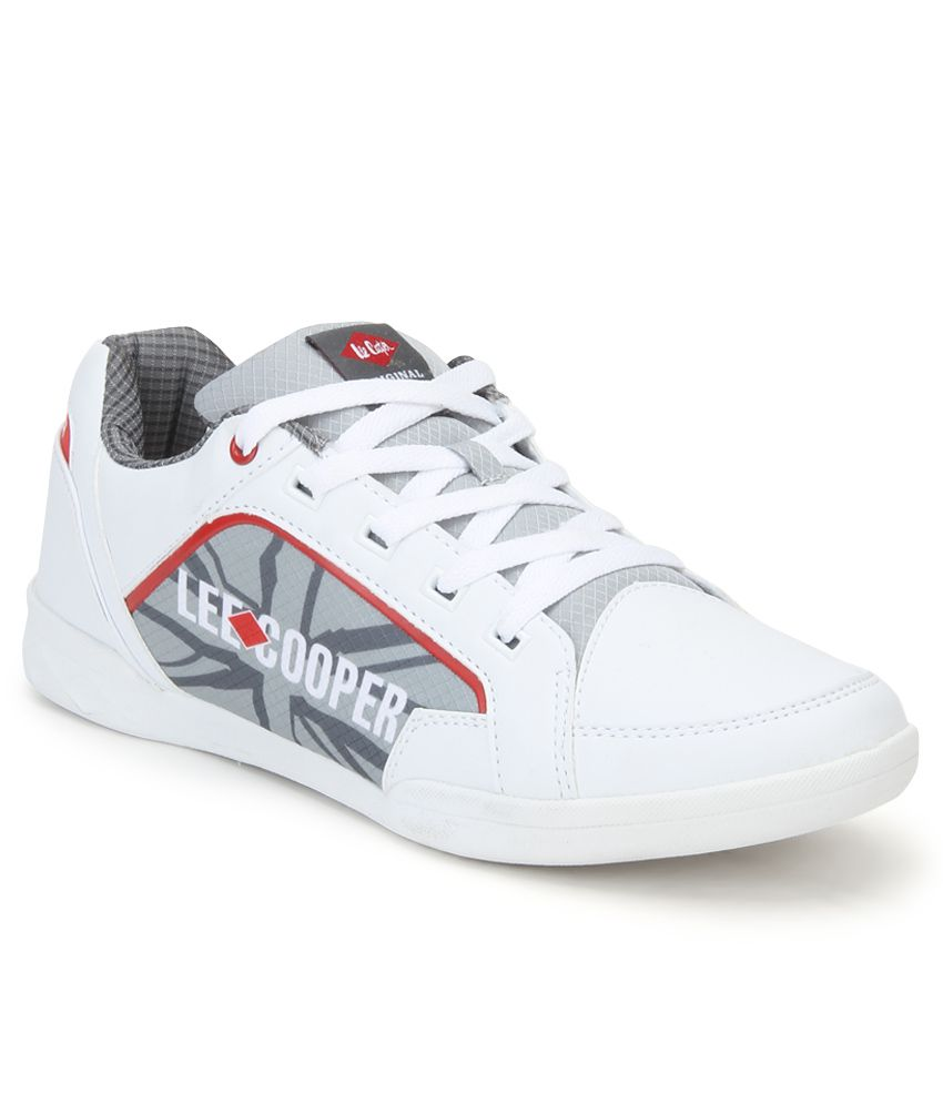 Lee Cooper White Sports Shoes