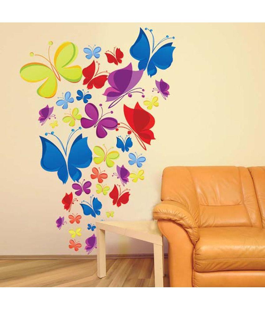 Oren Empower New Design Color Butterfly Wall Decorative Sticker ...