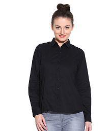 Vaak Black Cotton Shirts