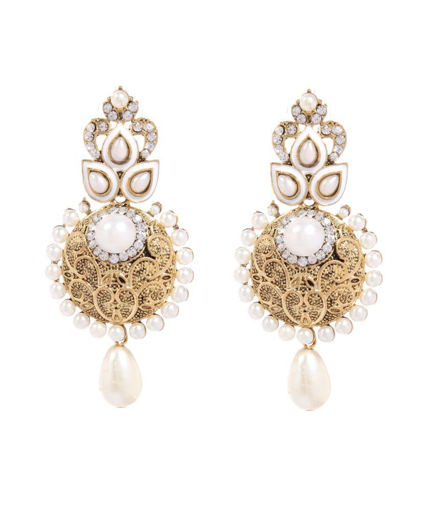 Tsquare Bridal Hanging Earrings