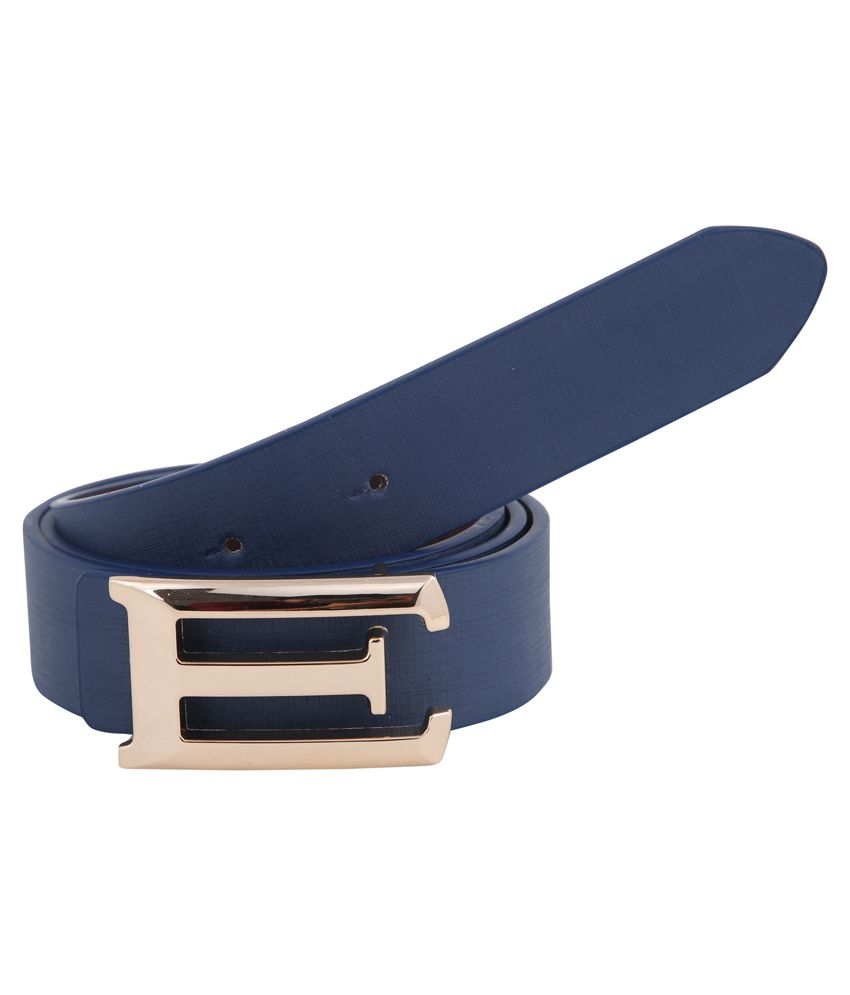 Alpha Man Blue Leather Belt
