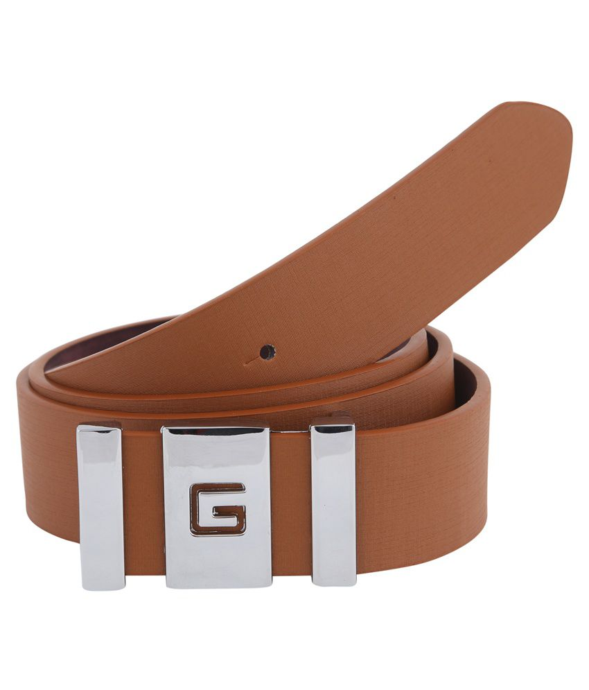 Alpha Man Brown Leather Belt