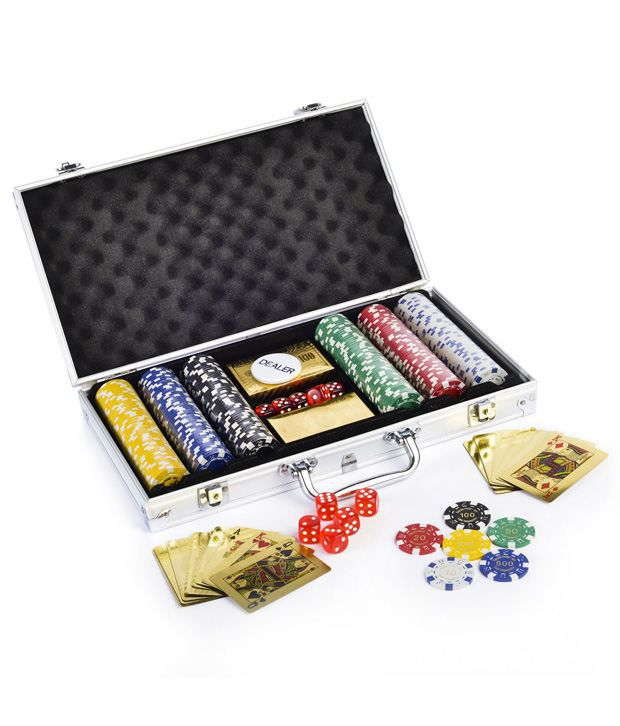 Gold Poker Chip Set 300