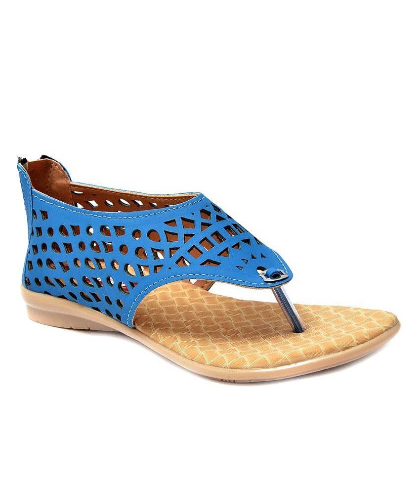 Leeway Footwear Navy Blue Heels Sandals