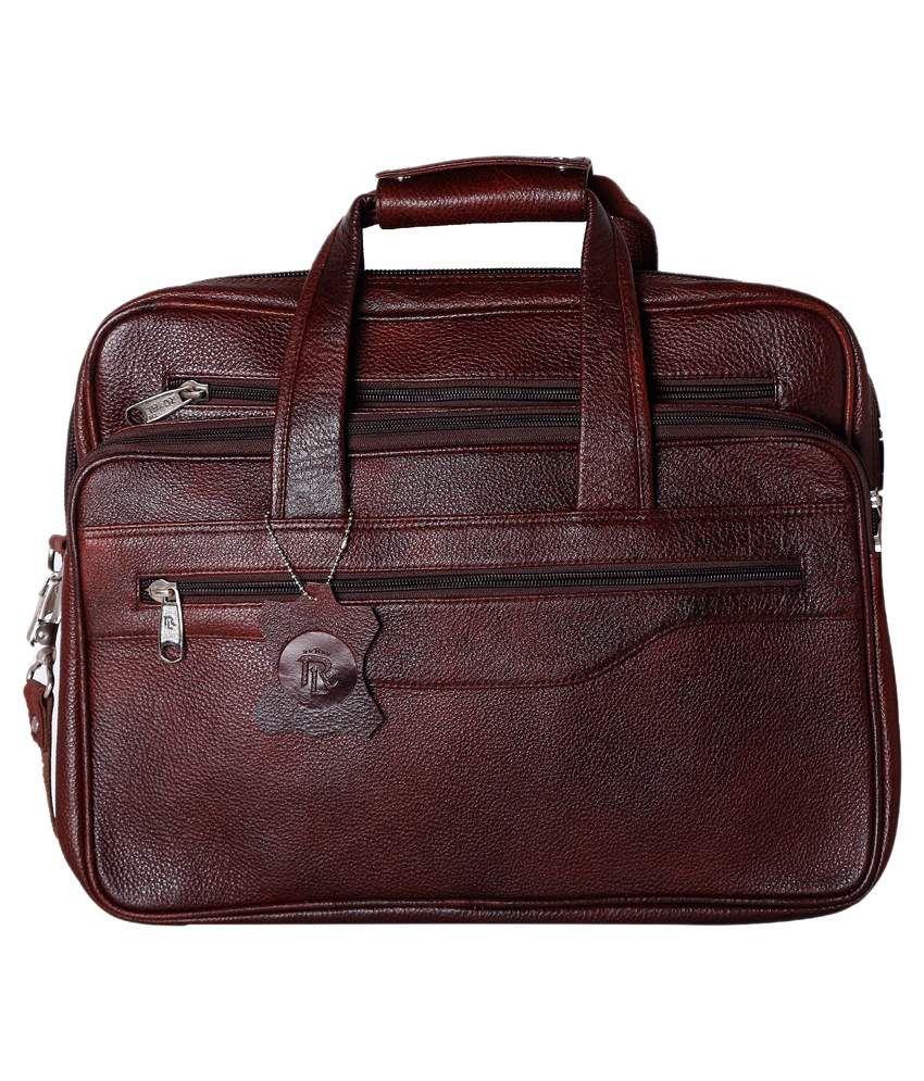 Rle Brown Laptop Bag