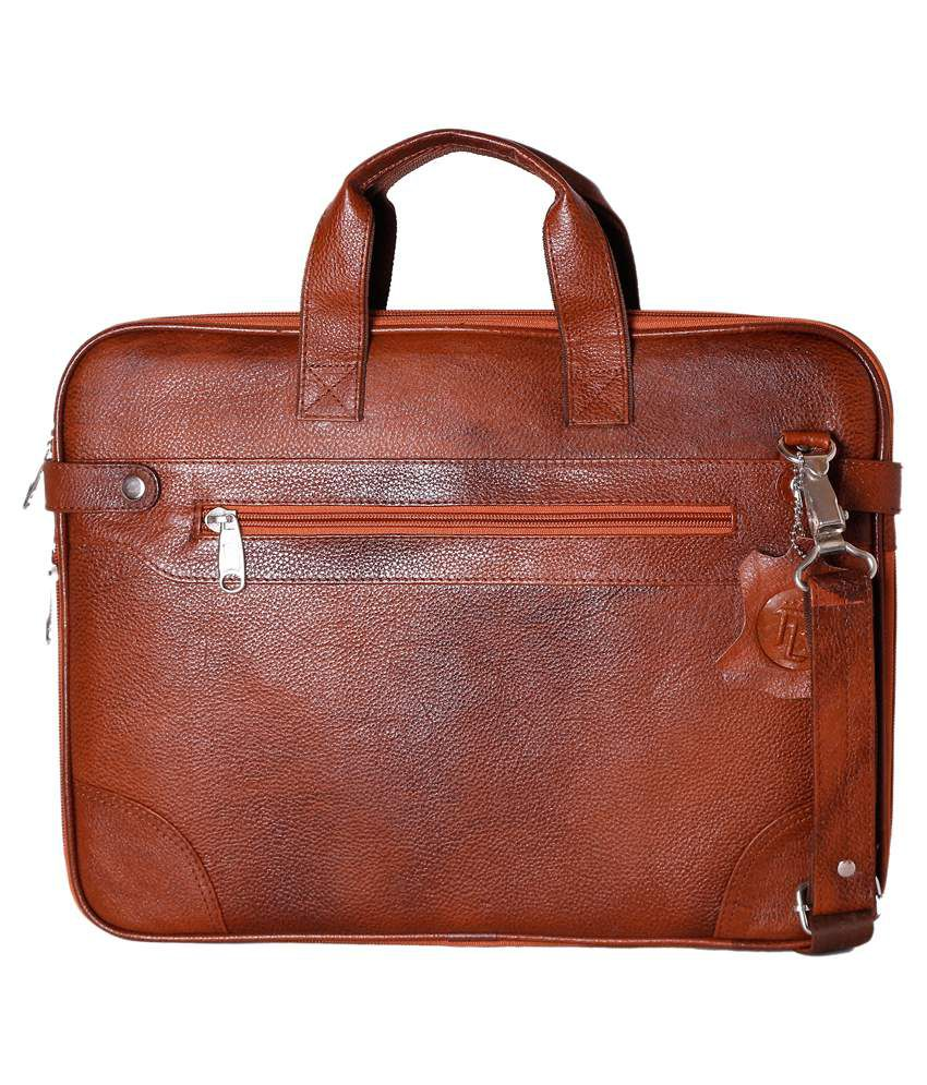 Rle Tan Laptop Bag