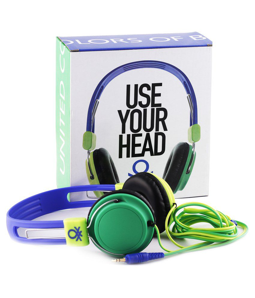 United Colors Of Benetton 2013 On Ear Wired Headphone Without Mic Multicolor