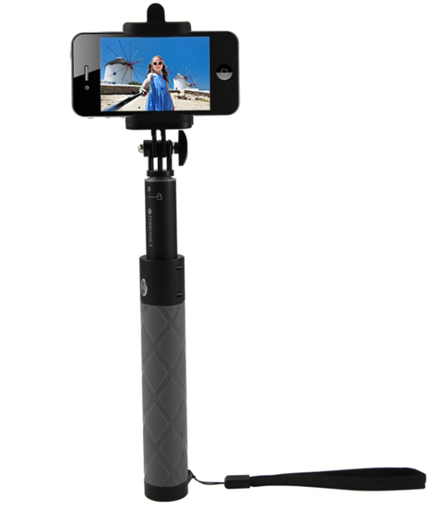 zebronics ss100 bluetooth selfie stick black price in india buy zebronics. Black Bedroom Furniture Sets. Home Design Ideas