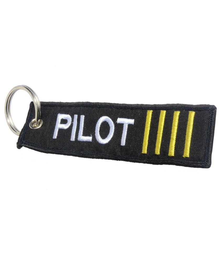 Airliners Black Pilot Bag Tag/Key Chain