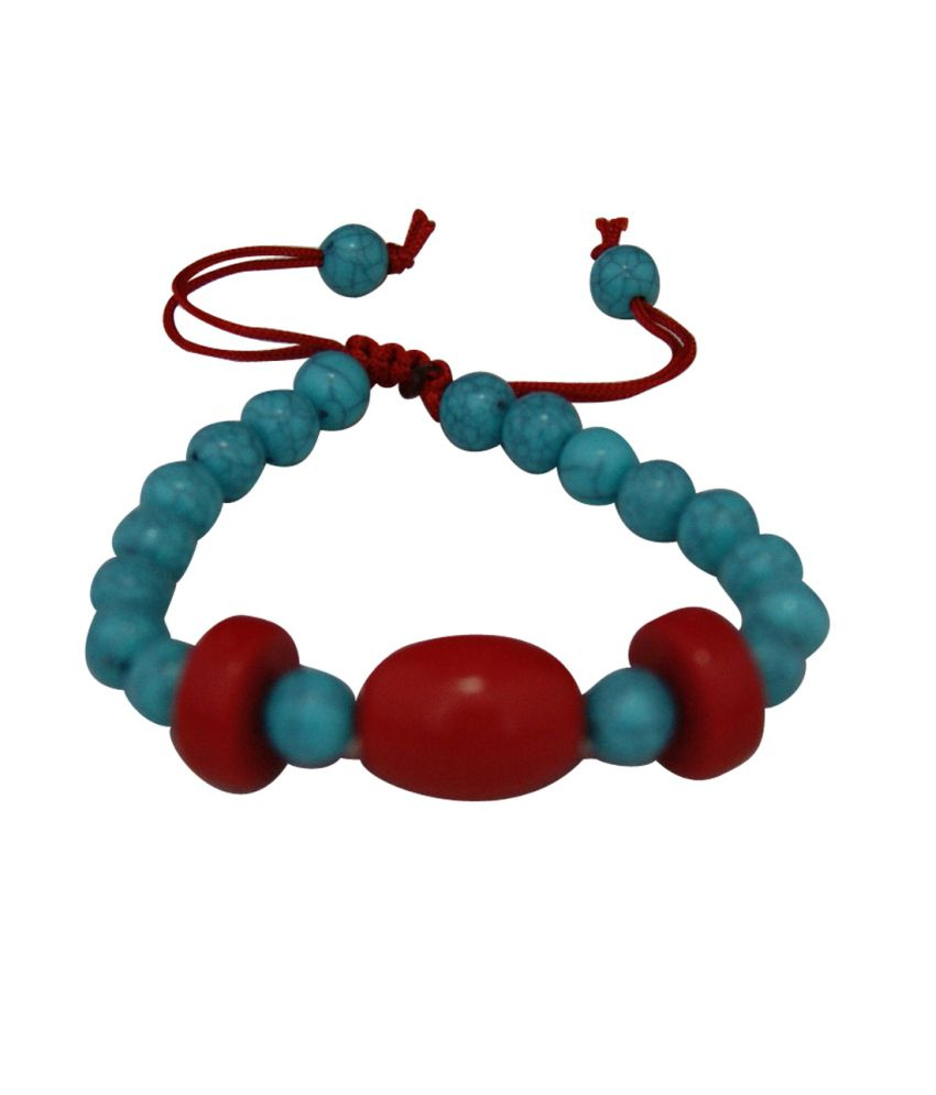 Divya Mantra Turquoise Gemstone with Round Bead for Protection Bracelet