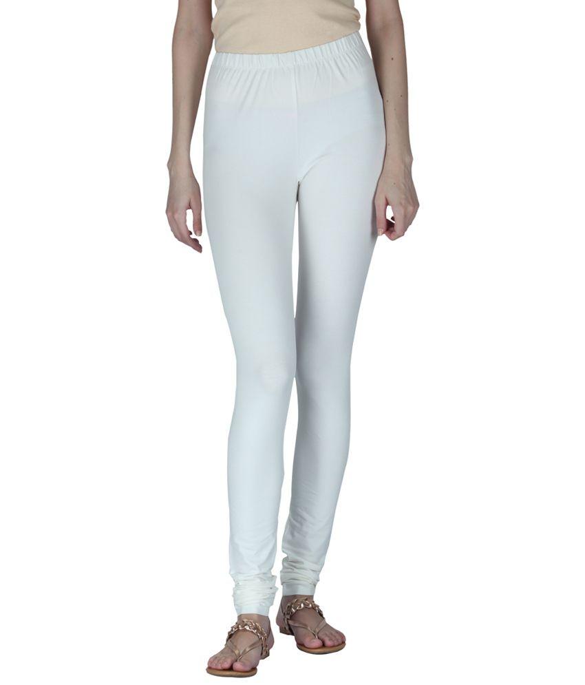 0c1bfca067cb7 Insense White Plain Leggings Price in India - Buy Insense White Plain  Leggings Online at Snapdeal