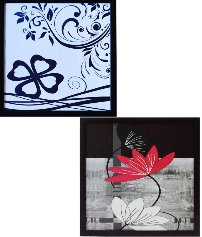 Ecraft Blue and Pink Paintings - Set of 2