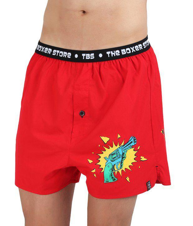 The Boxer Store Red Cotton Underwear