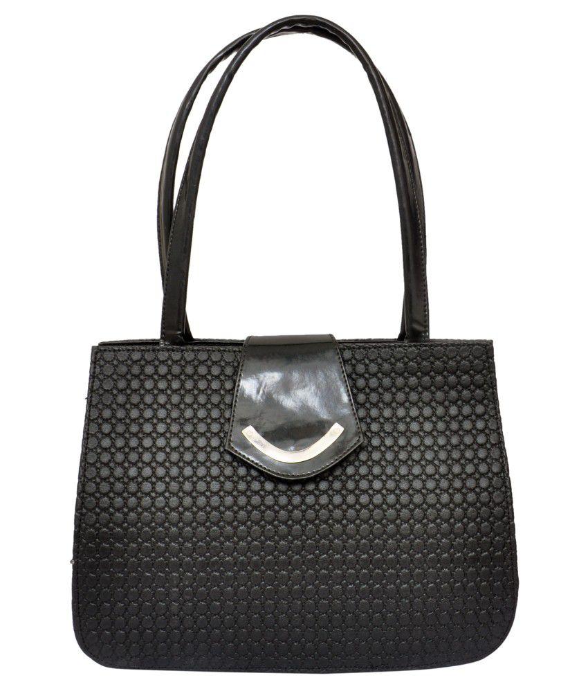 Kreative Black Zipped Shoulder Bag