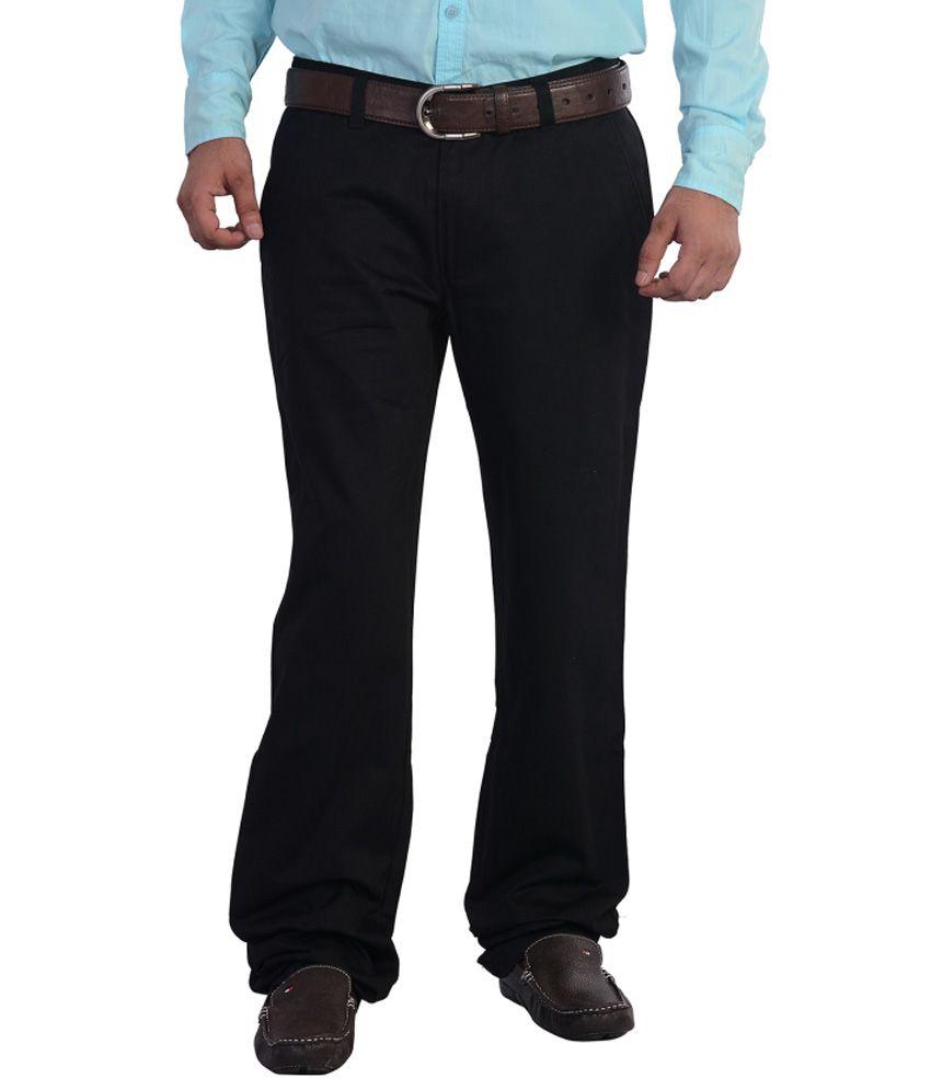 Mild Kleren Mens 100% Cotton Chinos Trouser (Black)