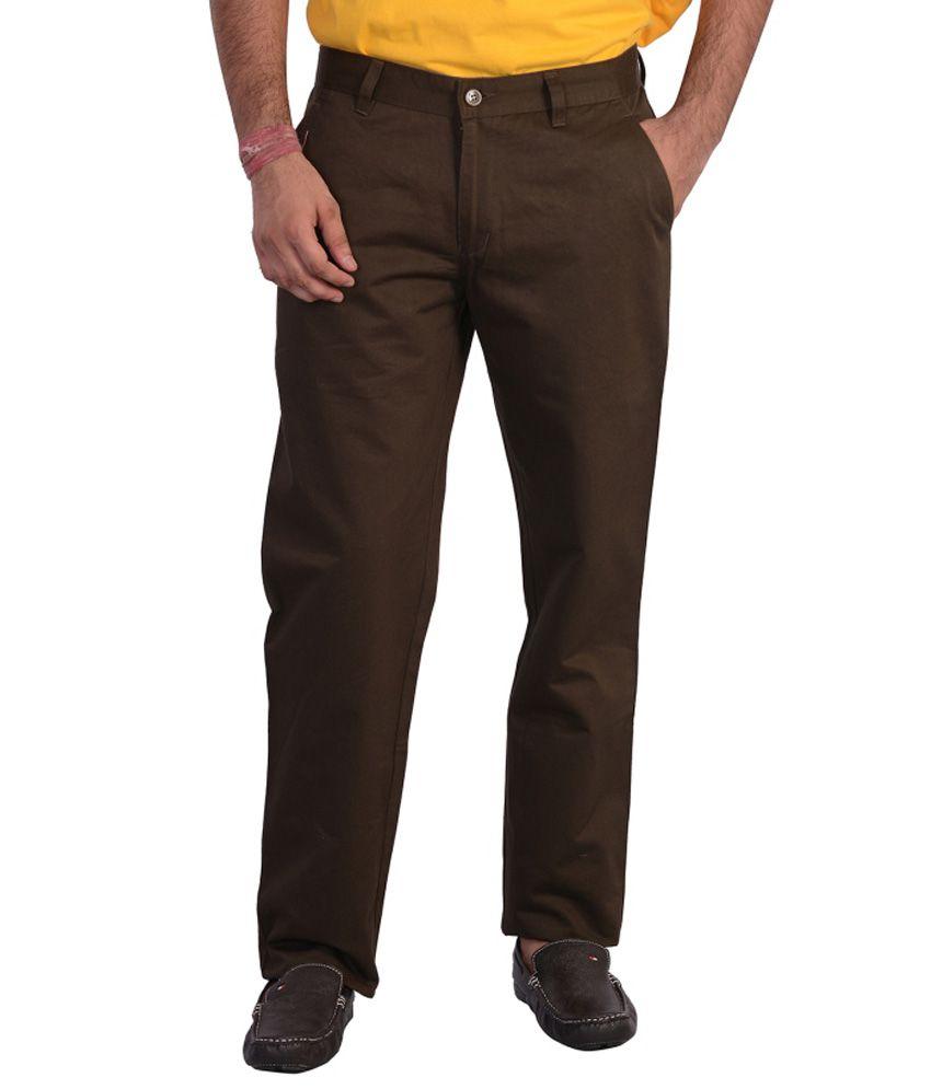 Mild Kleren Mens 100% Cotton Chinos Trouser (Dark Green)