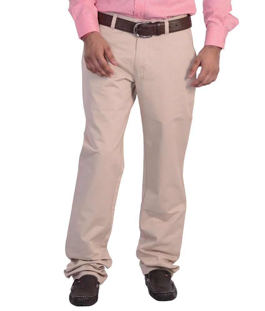 Mild Kleren Mens 100% Cotton Chinos Trouser (Cream)