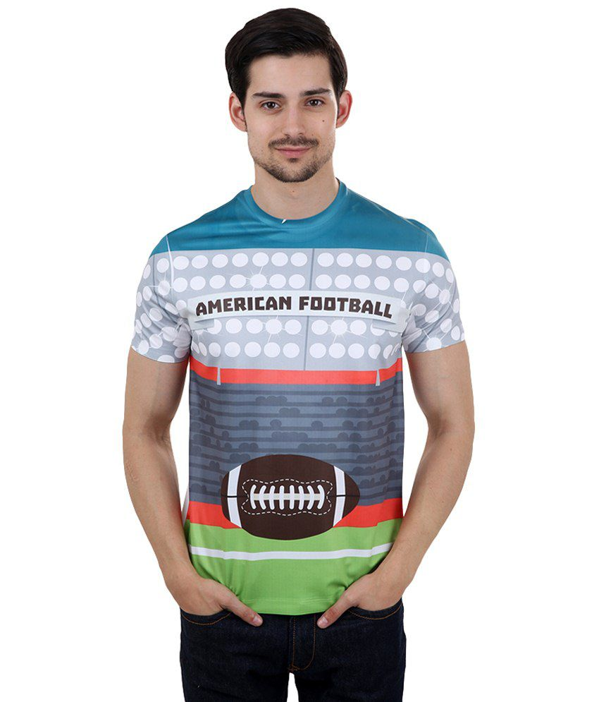 Freecultr Express Multicoloured American Football Printed T Shirt