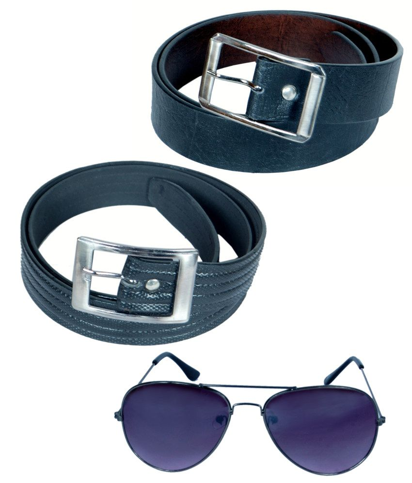 KVELL Be Proud Present's Present's Combo Of Soft Black , Shinning Black Belt & Assorted Sunglass