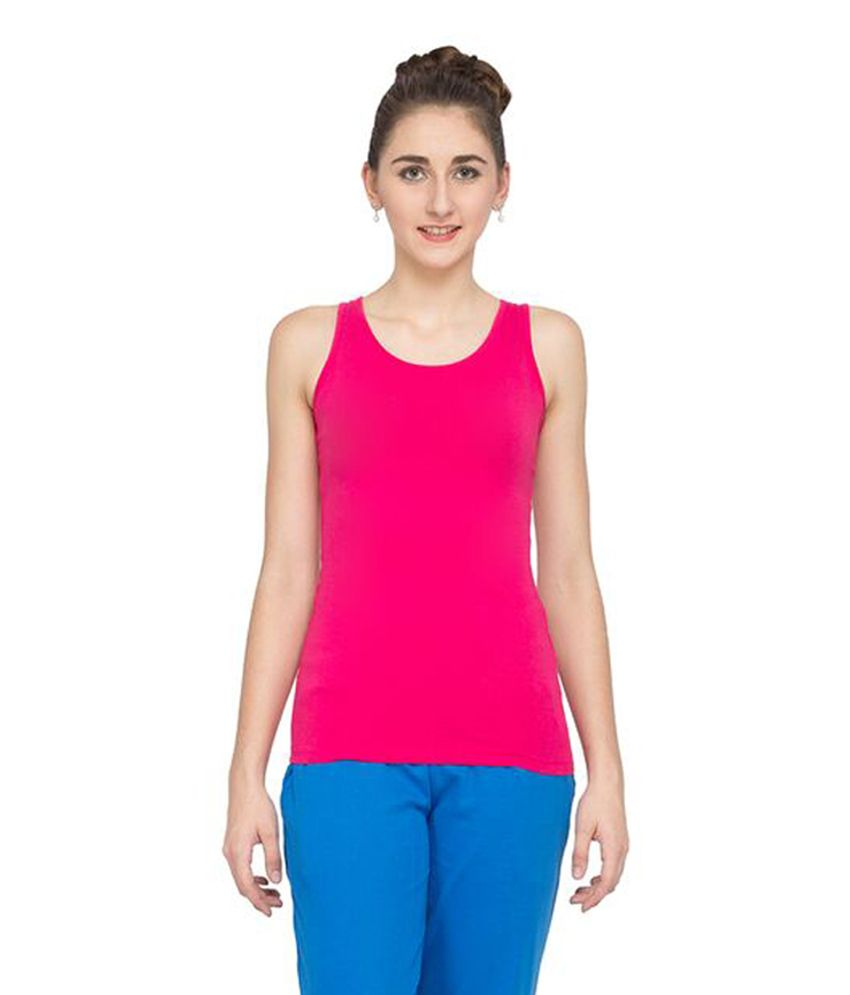 Alibi Pink Cotton Tank Top
