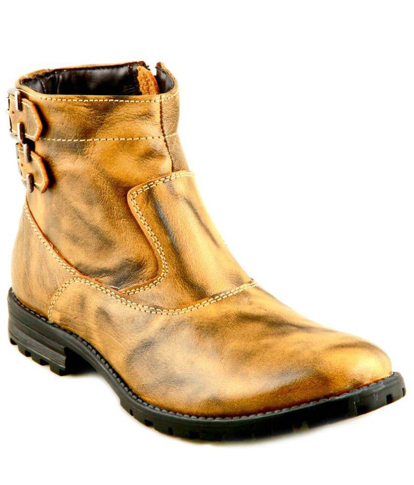 Apaache Tan Leather Boots