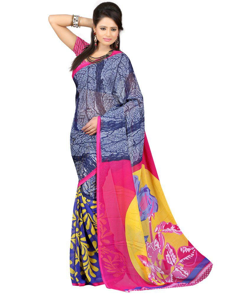 Designer Saree Multicoloured Georgette Saree
