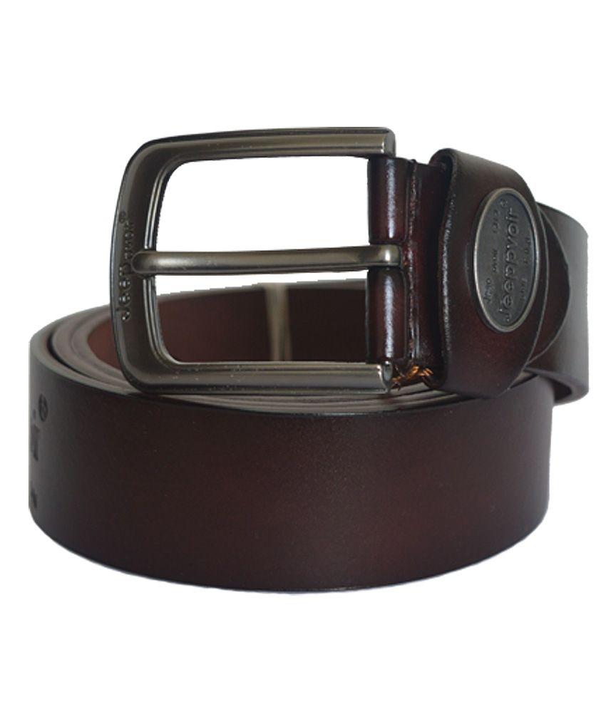 HS Retail Brown Leather Belt