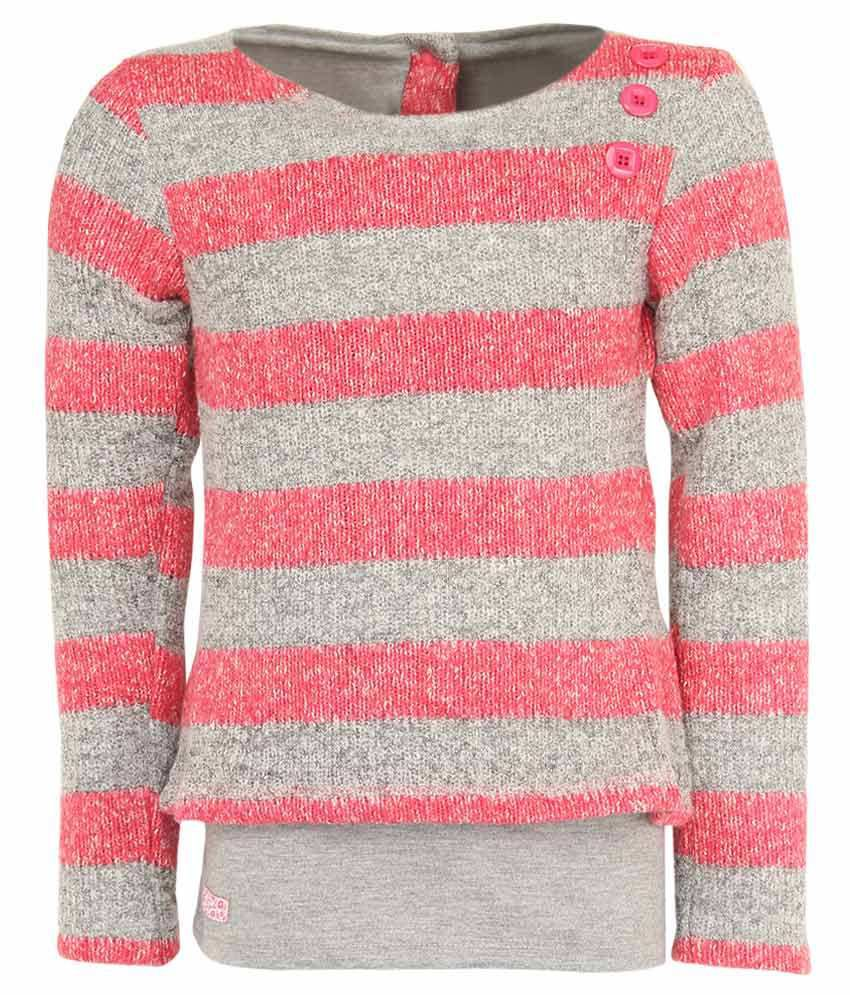536033d3f78f Little Kangaroo Full Sleeves Pink Color Round Neck Sweater For Kids ...