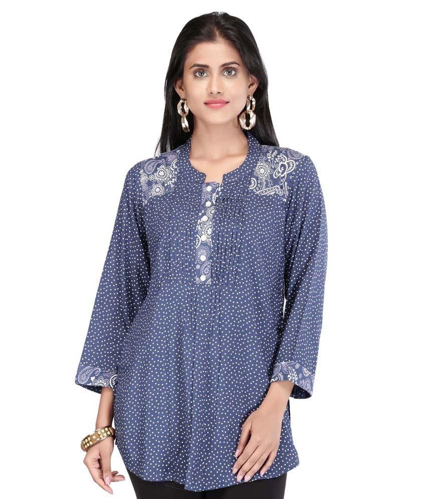 Sanaa by Shoppers Stop Blue Cotton Kurta