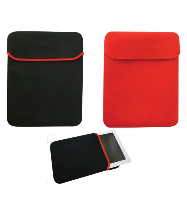 Skin Yard Red and Black Reversible Laptop Sleeve
