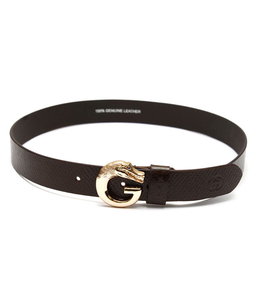 Krazoo Black Leather Belt