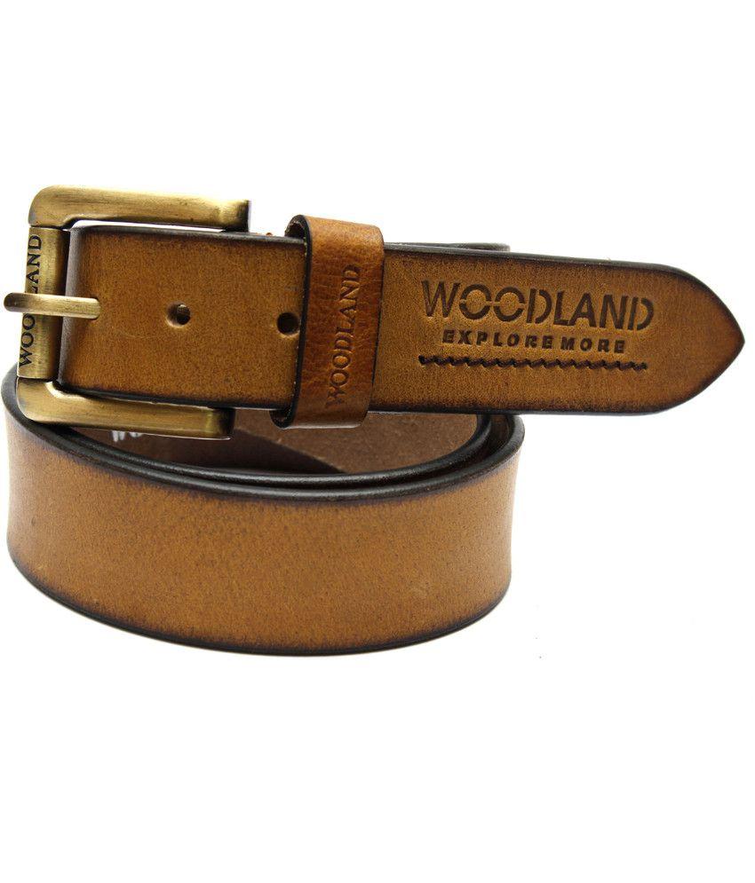 Krazoo Yellow Leather Belt