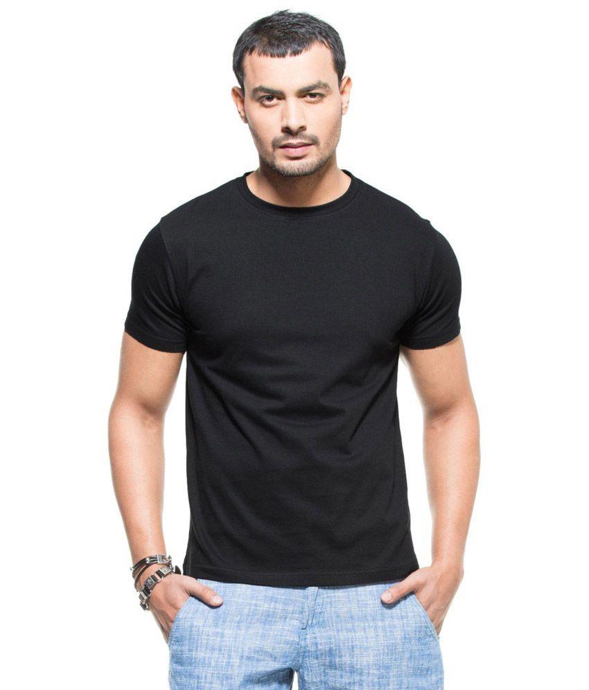1One Black Cotton T-shirt