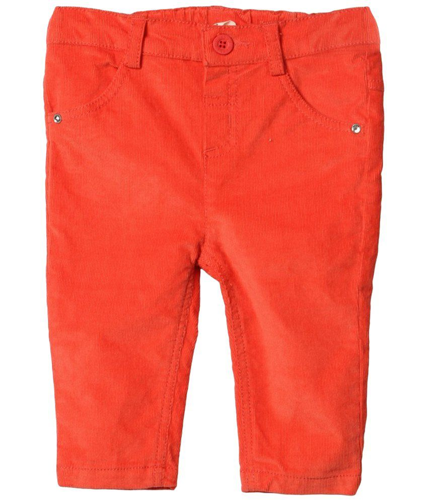 Beebay Orange Solid Trousers