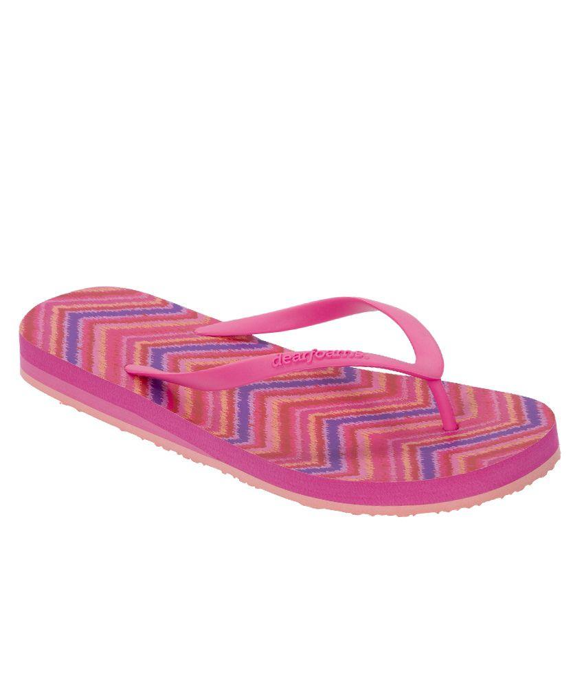 Dearfoams Pink Flip Flops