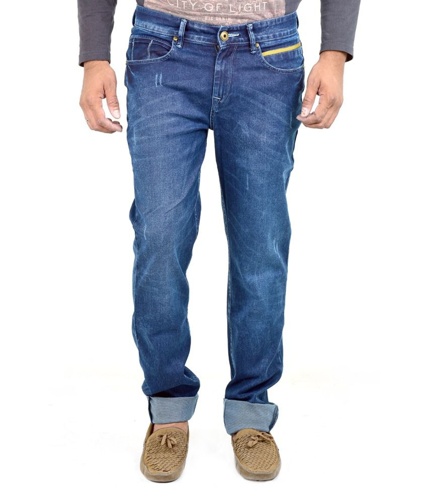 Indigen Blue Slim Fit Jeans