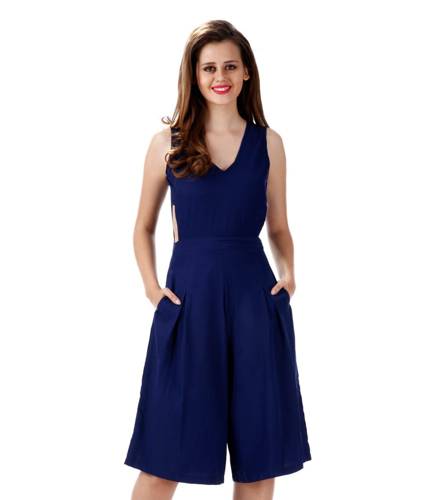 Miss Chase Navy Bodycon Jumpsuit For Women Sleeveless V Neck Party Wear - Buy Miss Chase Navy ...