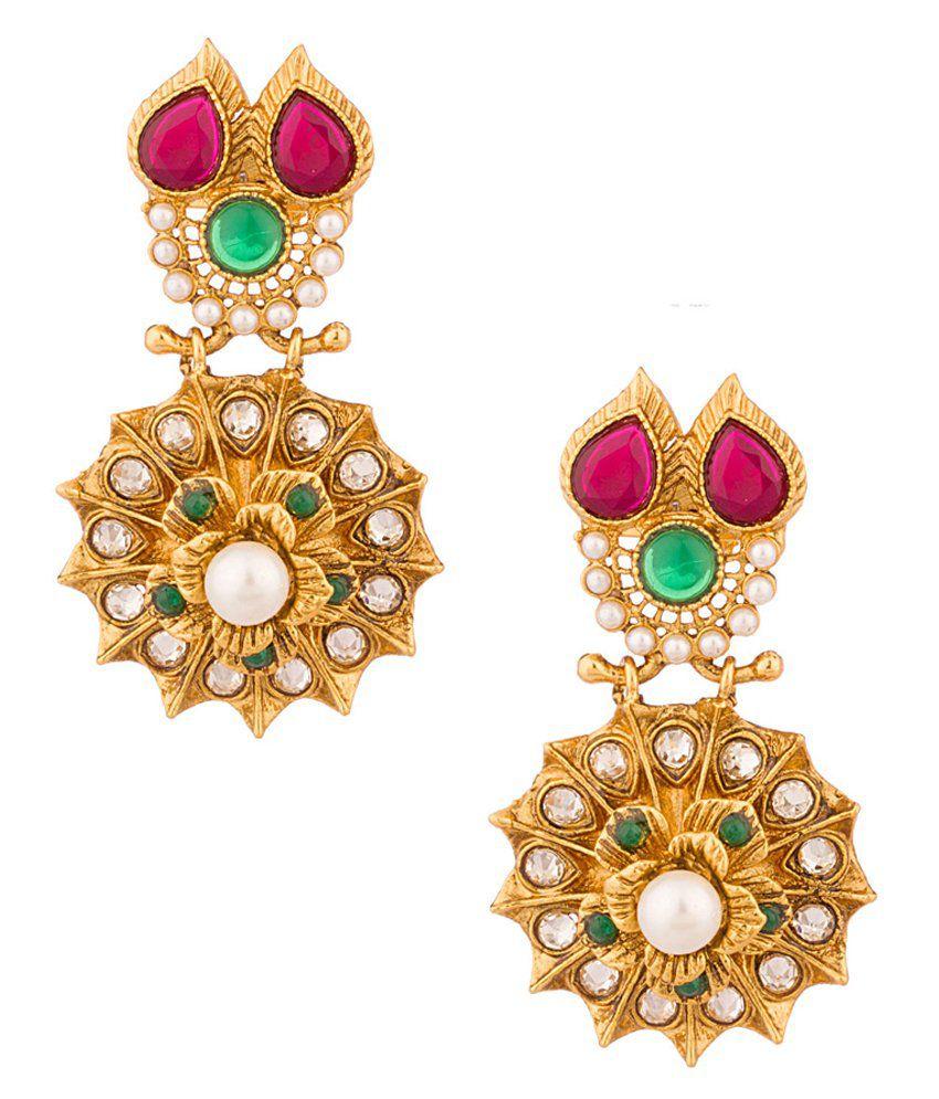 Voylla Splendid Dangler Earrings Pair