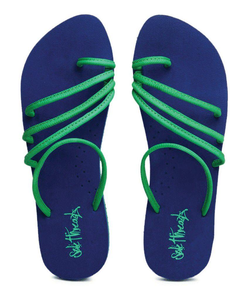 Sole Threads Olivia Blue Flip Flops