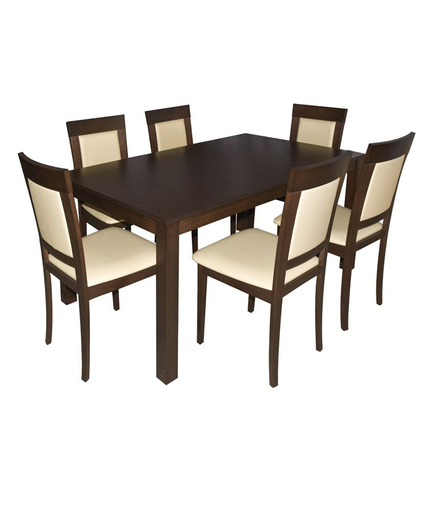 Eros Six Seater Dining Table Set Best Price in India on