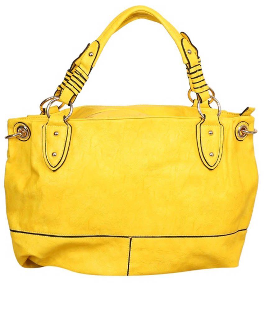 Anahita Enterprises Yellow Shoulder Bag