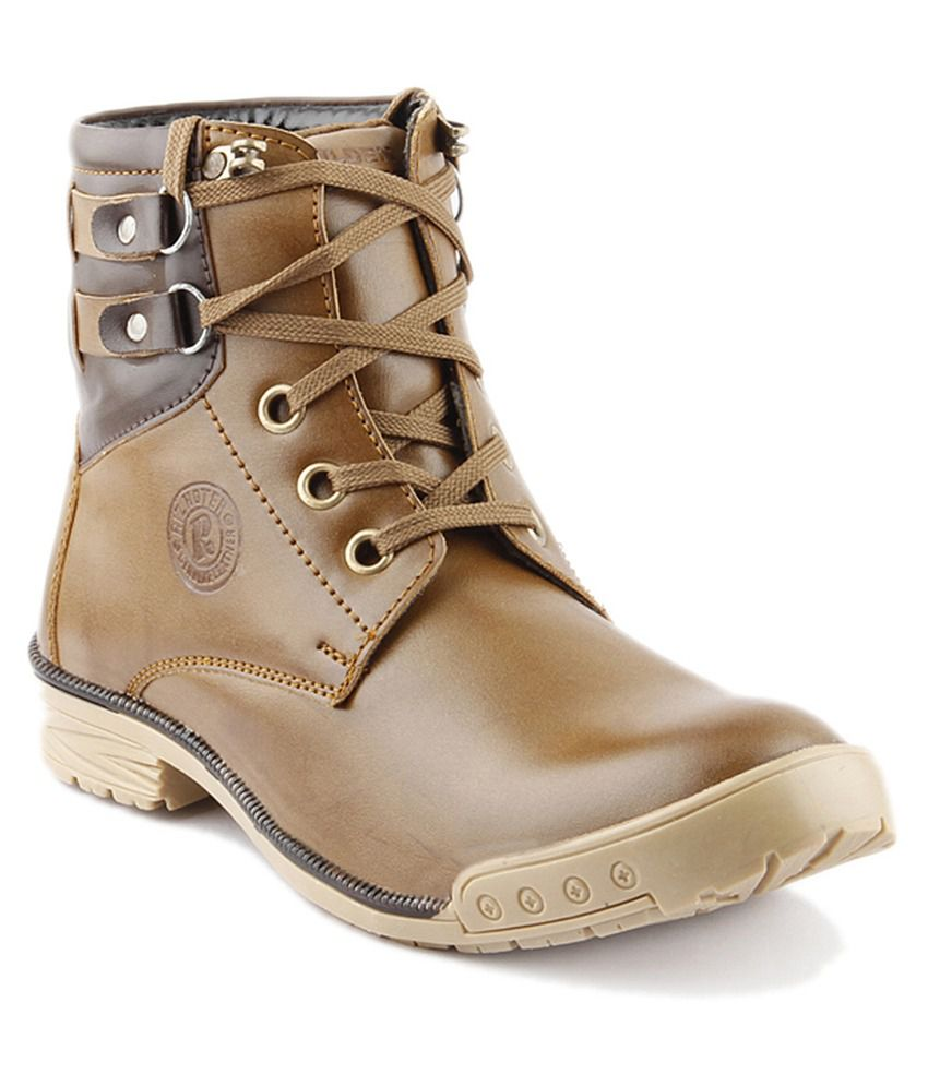 Golden Sparrow Brown Lace Boots