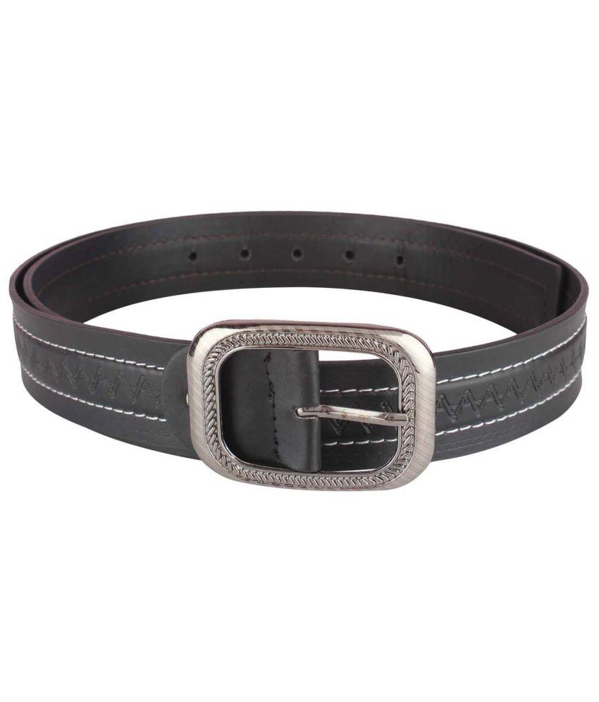 Blute Black Casual Single Belt For Men