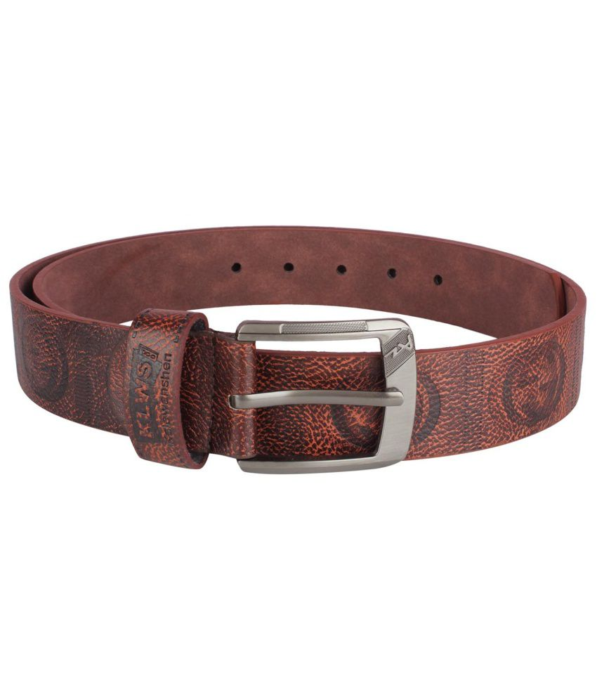 Blute Brown Casual Single Belt For Men