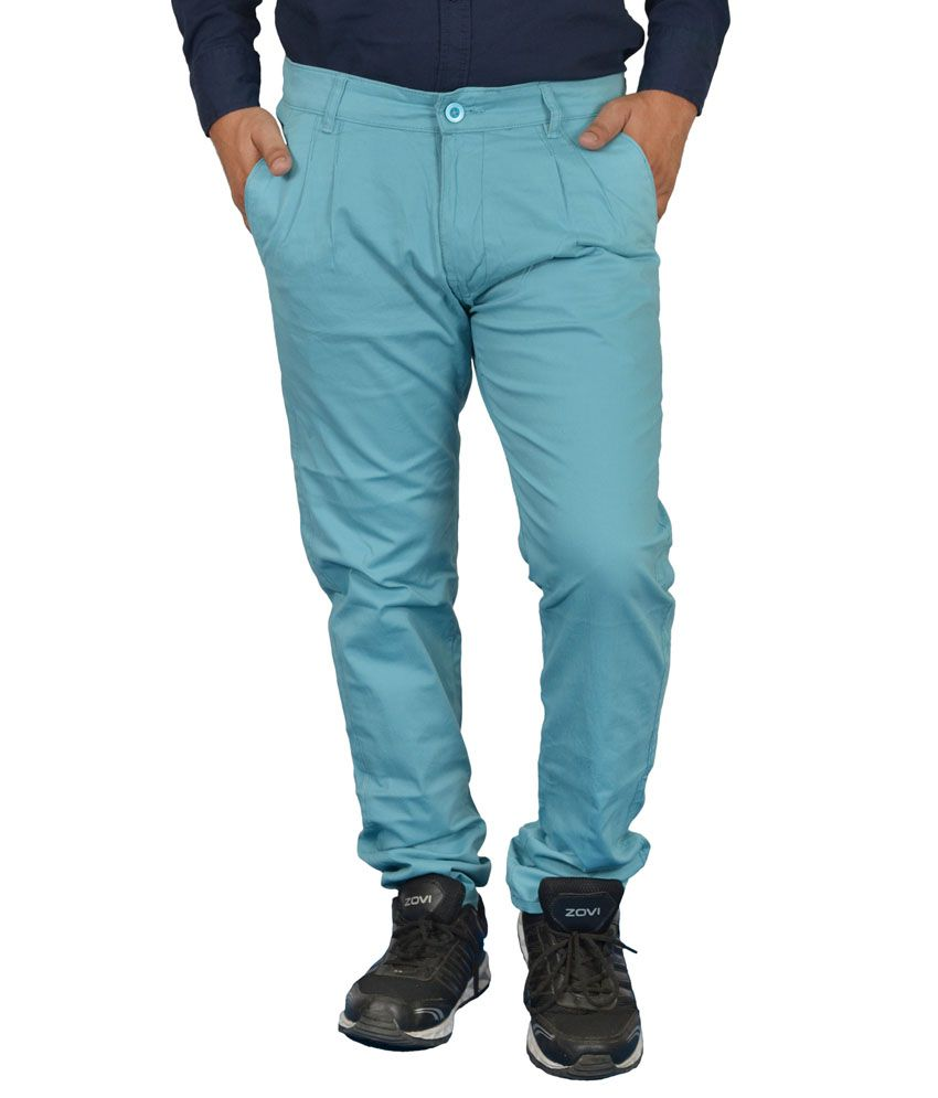 Jura Polo Blue Regular Fit Casual Chinos