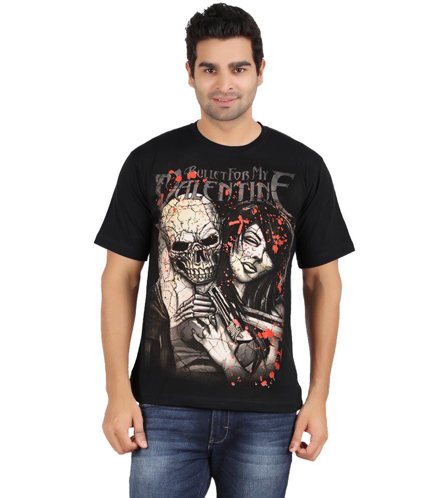 Avenster Black Cotton T Shirt