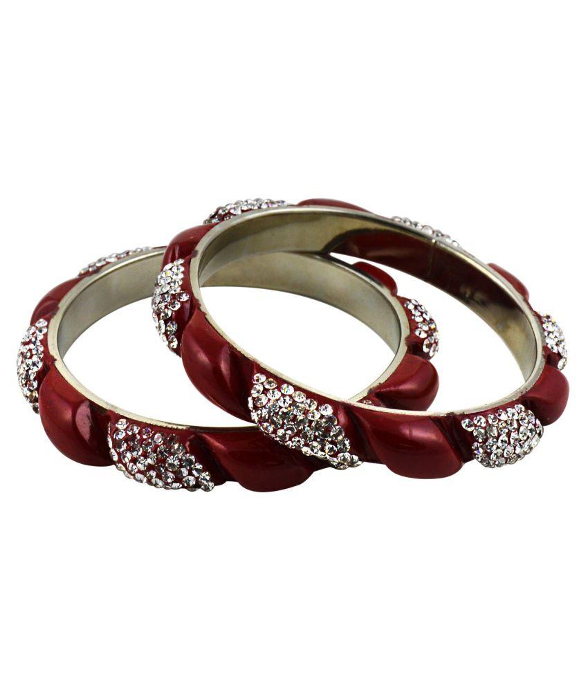 Saniya Arts Bridal Red Lac Bangle Set